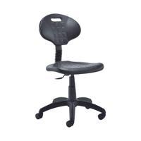 Jemini Factory Chair Polyurethane Black KF00197