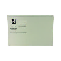 Q-Connect Square Cut Folder Mediumweight 250gsm Foolscap Buff (Pack of 100) KF01190