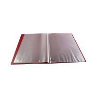 Q-Connect Polypropylene Display Book 10 Pocket Red KF01246