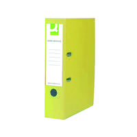 Q-Connect Lever Arch File Foolscap Polypropylene 70mm Yellow KF01476