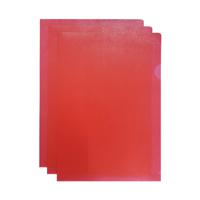 Q-CONNECT CUT FLUSH FOLDER A4 RED PK100