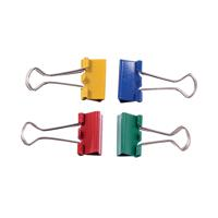 Q-Connect Foldback Clip 24mm Assorted (Pack of 10) KF03652