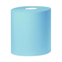 2Work 2-Ply Centrefeed Roll 150m Blue (Pack of 6) KF03805