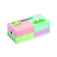 Q-Connect Quick Note Repositionable Pad 76x76mm Rainbow KF10509