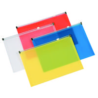 Q-Connect Document Zip Wallet A4 Assorted KF16552