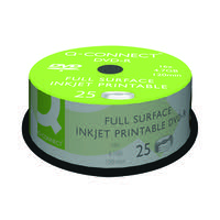 Q-Connect Inkjet Printable DVD-R Discs 16x 4.7GB (Pack of 25) KF18021