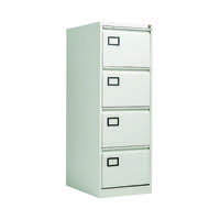 Jemini Light Grey 4 Drawer Filing Cabinet (Dimensions: W470 x D622 x H1321mm) KF20044