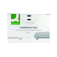 Q-Connect Foolscap Tabbed Suspension Files (Pack of 10) KF21018