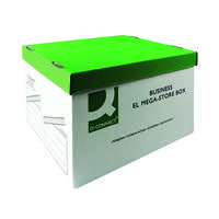 Q-Connect MegaStore Box Green and White (Pack of 10) KF21738