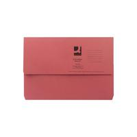 Q-Connect Document Wallet Foolscap Red (Pack of 50) KF23016