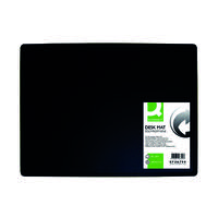 Q-Connect PP Desk Mat With Non-Slip Surface 40X53 Black KF26794