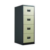 Talos 4 Drawer Filing Cabinet Coffee Cream KF78771