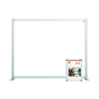 Nobo Acrylic Modular Desk Divider 1200 x 1000mm Clear KF90373