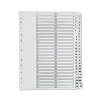 Q-Connect 1-50 Index Multi-Punched Reinforced Board Clear Tab A4 White KF97057