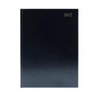 Desk Diary Day Per Page A4 Black 2022 KFA41BK22