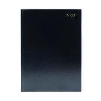 Desk Diary 2 Days Per Page A4 Black 2022 KFA42BK22