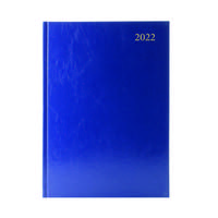 Desk Diary Day Per Page A5 Blue 2022 KFA51BU22