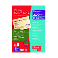 POST CARDS A4 SHEET 148.5X105MM PK100