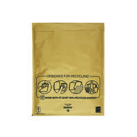 MAIL LITE BUBBLE BAGS 350X470 GOLD PK50