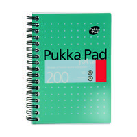 Pukka Pad Ruled Wirebound Mettalic Jotta Notepad 200 Pages A6 (Pack of 3) JM036