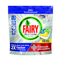 Fairy Platinum Dishwasher Tablets (Pack of 75) 81448293