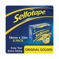 Sellotape 18mmx33m Golden Tape (Pack of 8) 1443251