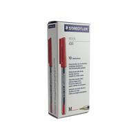 Staedtler Stick 430 Ballpoint Pen Medium Red (Pack of 10) 430-M2