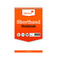Silvine Ruled Spiral Bound Shorthand Notepad 127x203mm (Pack of 6) 449