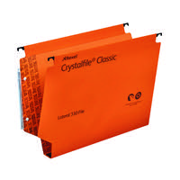 REXEL CRYSTALFILE 30MM LAT FILE ORGE P25