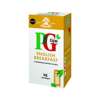 PG Tips English Breakfast Envelope Tea Bags (Pack of 25) 29013801