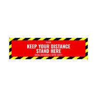 Social Distance Floor Sticker 500x130mm (Pack of 5) Socialstick02