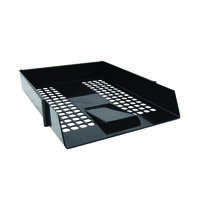 Contract A4 Black Letter Tray (Mesh design and economical plastic construction) WX10050A