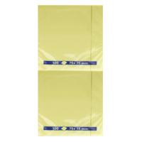 Yellow Repositionable Quick Notes Pad 75 x 75mm (Pack of 12) WX10502