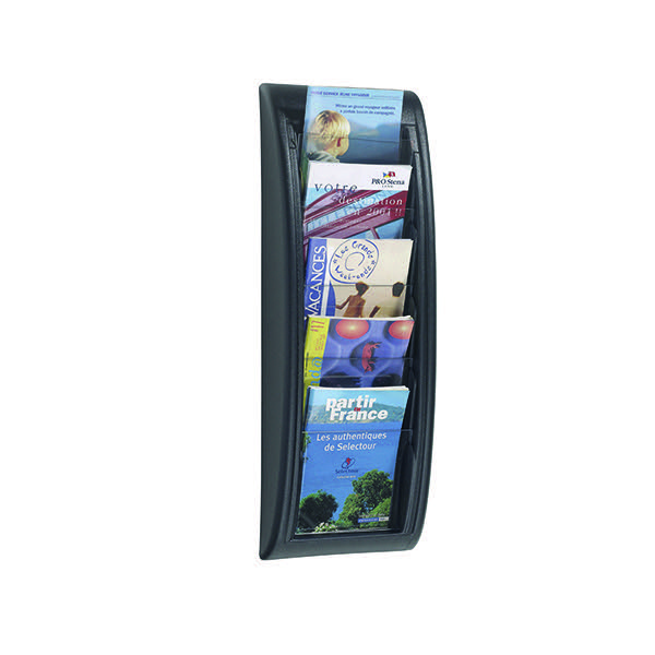 Fast Paper Black Quick Fit A5 Wall Display System F406301