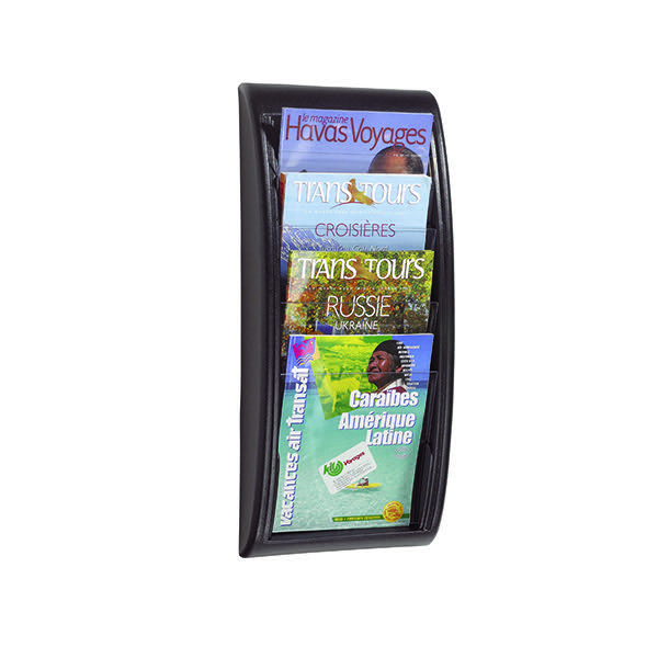 Fast Paper Black Quick Fit A4 Wall Display System F406101