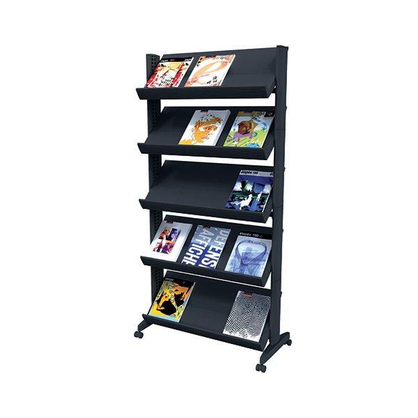 Fast Paper Black Mobile Easy Literature Display Wide Corner F255N01