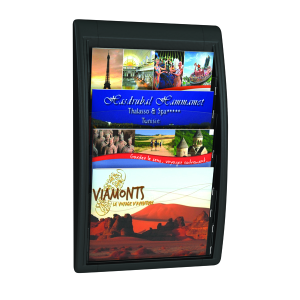 Fast Paper Oversized A4 Quick Fit Wall Display Black F406001
