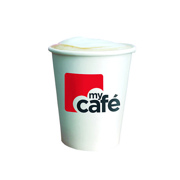 MyCafe 8oz Single Wall Hot Cups Pk50
