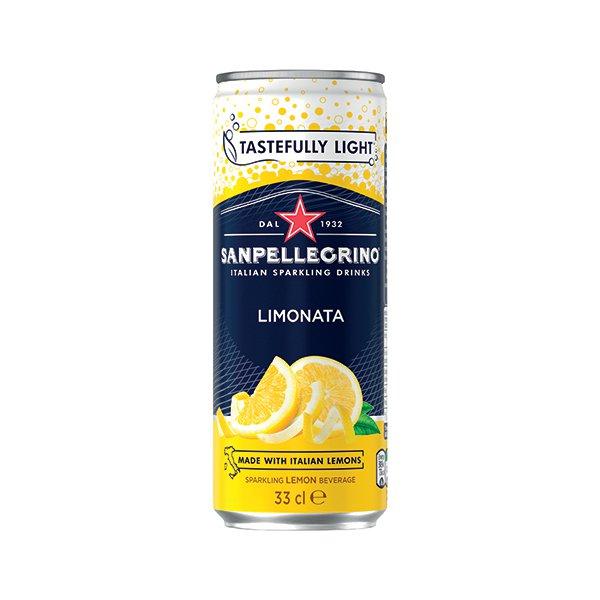 San Pellegrino Limonata Lemon 330ml Cans (Pack of 24) 12166912