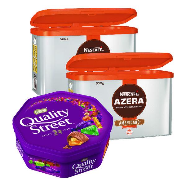 Nescafe Azera Instant Coffee 500g Buy 2 Get FOC Quality Street 720g NL819847