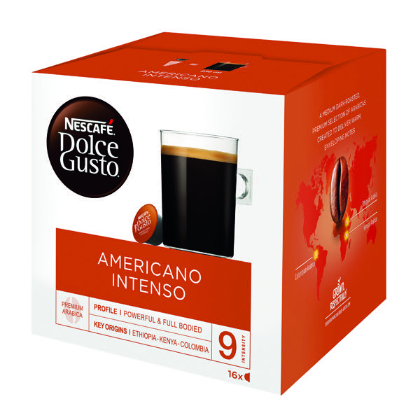 Nescafe Dolce Gusto Grande Intenso Capsules (Pack of 48) 12208476