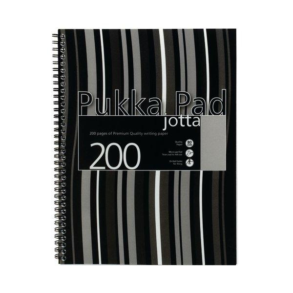 Pukka A4 Jotta Notebook Wirebound Polypropylene Feint Ruled With Margin 200 Pages Black JP018