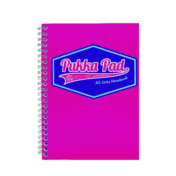 Pukka Pad Vision Wirebound Jotta Pad A5 Pink (Pack of 3) 8615-VIS