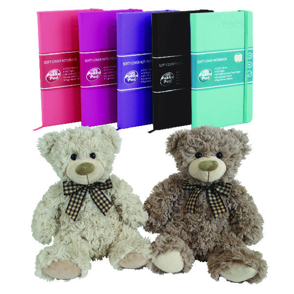 Pukka Signature Soft Cover A5 Assorted Plus Free Toy PP816967