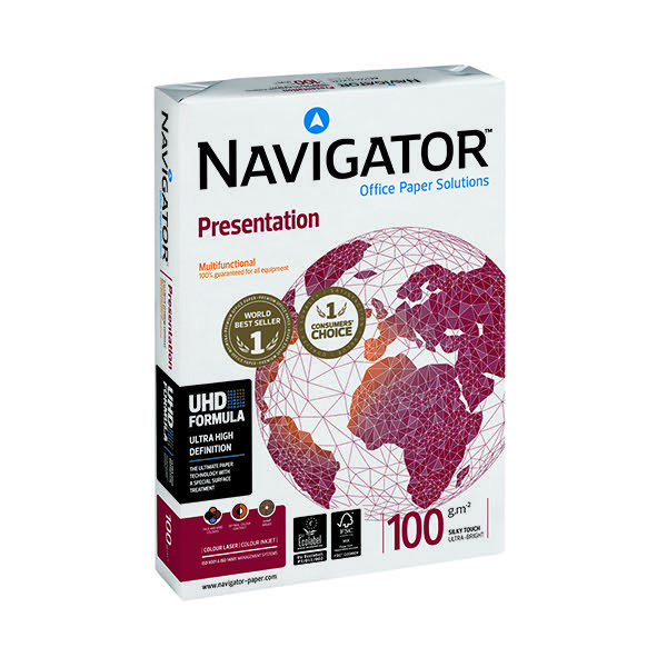 Navigator A4 Presentation Paper 100gsm White (Pack of 2500) NAVA4100