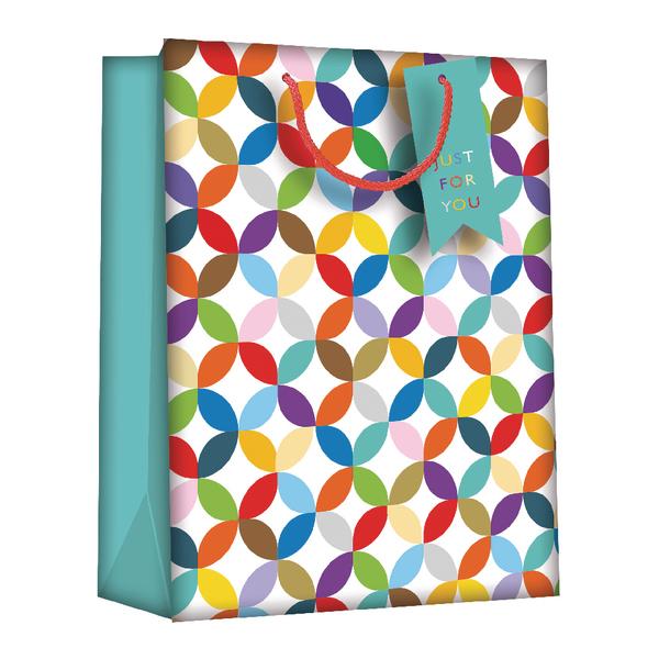 Regent Gift Bags Bright Link Geometric Medium (Pack of 6) Z730M