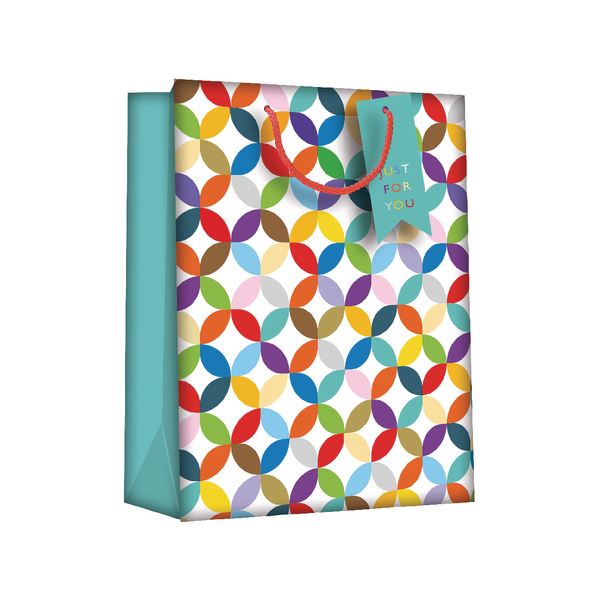 Regent Gift Bags Bright Link GeometricLarge (Pack of 6) Z730L