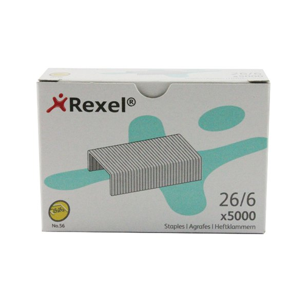 Rexel Staples No56 6mm 06025 Pack of 5000 6025