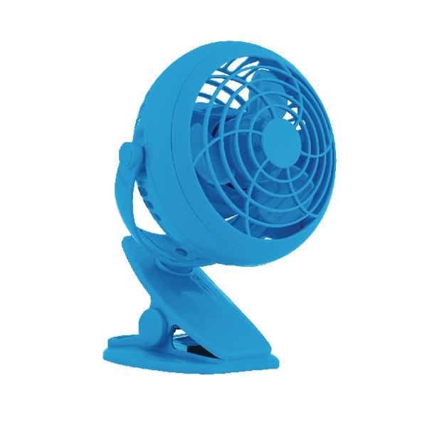 Image for Rexel Blss/Blue Joy 4in Mini Desk Fan