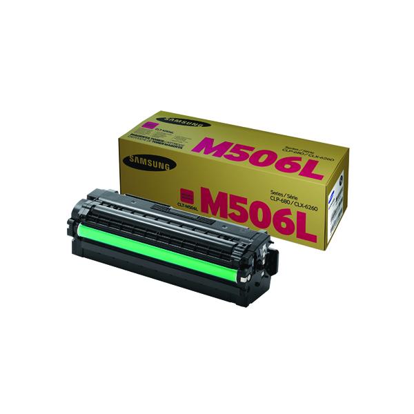 Samsung M506L Magenta Toner Cartridge High Capacity CLT-M506L/ELS